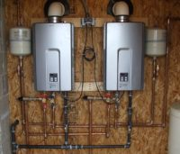 Houston Home Inspection - Tankless water heater Installation