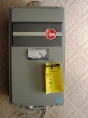 Houston Home Inspection - New Rheem Tankless Water Heater