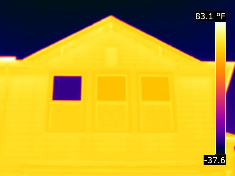 Houston Infrared home Inspection - Window with bad low-E coating