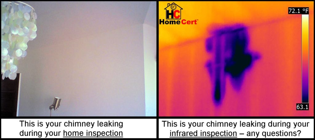 Home inspection Infrared Moisture Detection