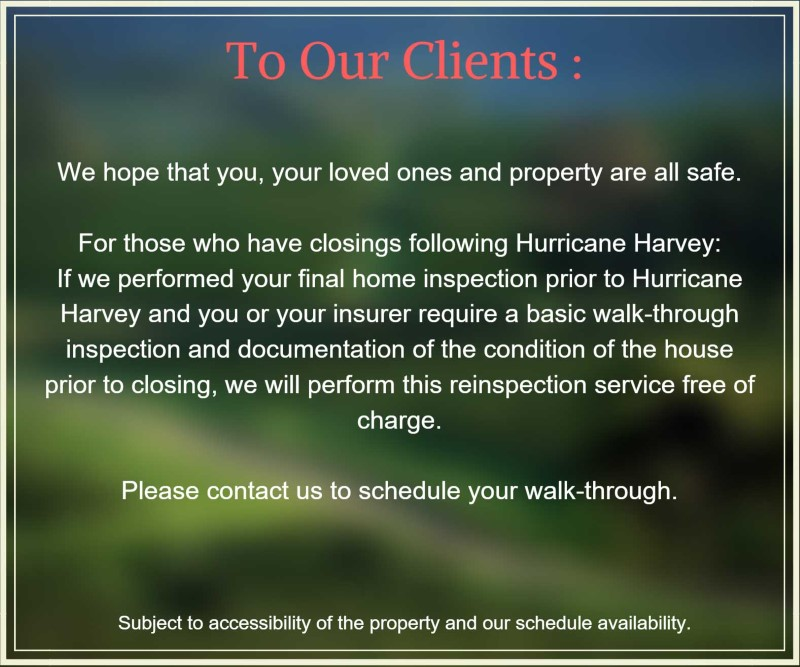 notice hurricane harvey home inspection