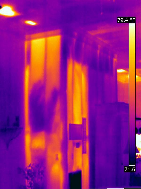 HomeCert Infrared Home Inspections - HVAC Return Leak