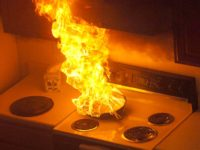 Houston Home Inspection - kitchen fire