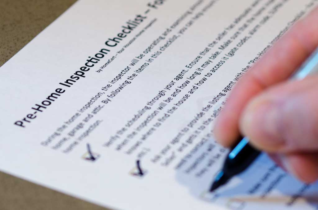 home inspection preparation checklist