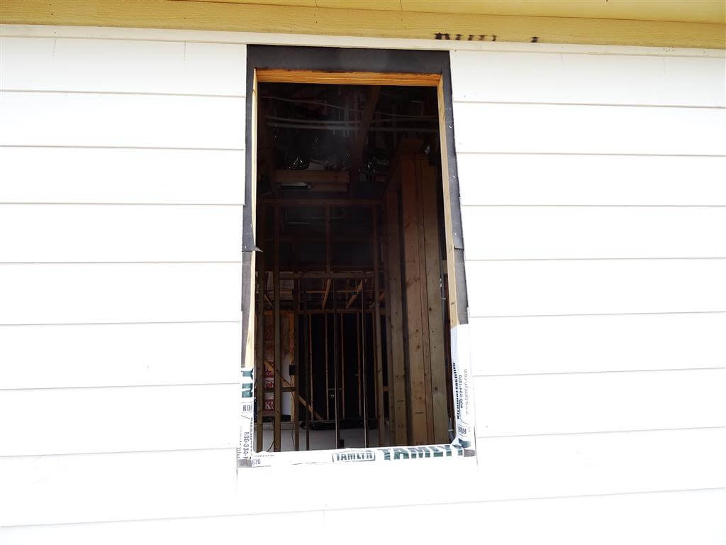 This siding was installed before the window.