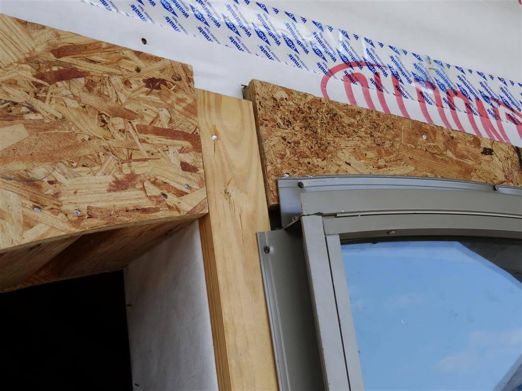 Window improperly installed over furring strip