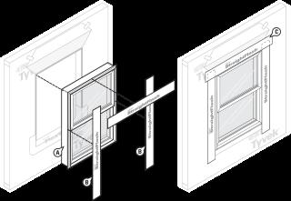 window installation applied flashing layering